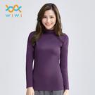 【WIWI】MIT溫灸刷毛立領發熱衣(羅蘭紫 女S-2XL)