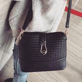 新款韓版潮鎖扣貝殼包時尚小包包百搭單肩包簡約斜背包女包包「爆米花」