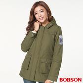 BOBSON 女款軍裝連帽鋪棉外套  (37105-41)