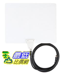 [106美國直購] AmazonBasics Ultra Thin Indoor TV Antenna - 35 Mile Range