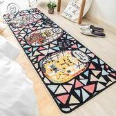 地毯地墊超人氣可愛喵星人臥室床邊地毯 長條客廳日式家用廚房地墊防滑Igo 摩可美家