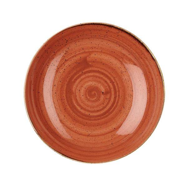 英國Churchill 點藏系列 - 圓形25cm西式餐碗/餐盤(彩橘色)