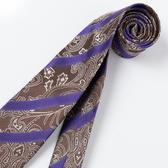 極品西服 經典防潑水Teflon蠶絲100%領帶_紫咖(YT3017)