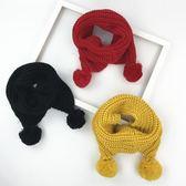 兒童圍巾冬季加厚針織毛線男童女童圍脖韓版潮【奈良優品】
