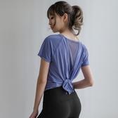 網紗性感運動短袖 女寬鬆跑步半袖罩衫速幹網紅健身上衣瑜伽服t恤 JX1357【優童屋】