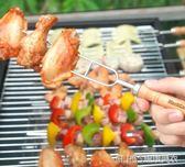 不銹鋼燒烤簽 烤針雞翅羊腿烤串叉子烤肉鐵釬 燒烤配件工具igo   琉璃美衣