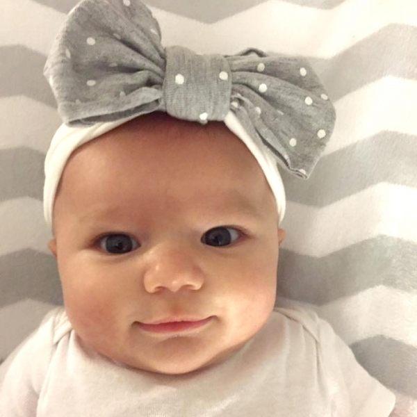 Baby Bling 大蝴蝶結寬版寶寶髮帶-撞色系列 Jersey Bow