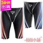 平口四角泳褲 紅/藍M~XL 星光曲線 男生長版泳褲 游泳泡湯衝浪 仙仙小舖