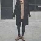 長版大衣 秋冬季男士風衣迷你流行新品中長版外套學生毛呢子大衣正韓潮流裝