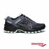 SAUCONY EXCURSION TR12 戶外越野女鞋-黑x湖水綠