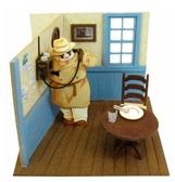 【拼圖總動員 PUZZLE STORY】紅豬 打電話  紙模型/立體紙雕/SANKEI/宮崎駿/紅豬