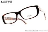 LOEWE 光學眼鏡 LW876 C09XK (琥珀) 典雅別緻LOGO款 平光鏡框 # 金橘眼鏡