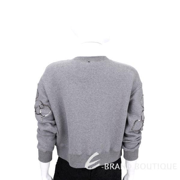 Max Mara-SPORTMAX 灰色金屬鍊飾長袖上衣 1540833-06
