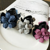 髮飾 立體 花朵 造型 馬尾夾 髮夾【DD1606021】 icoca  04/20