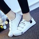丁果、帆布鞋35-44►韓版情侶三條魔鬼氈休閒鞋小白鞋*5色