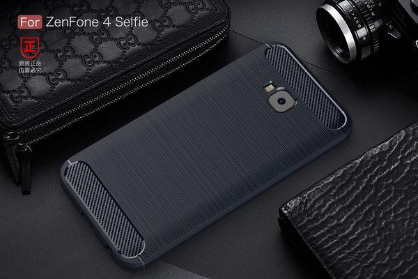 華碩 ZenFone 4 Selfie Pro ZD552KL 髮絲紋 碳纖維 手機軟殼 矽膠手機殼 磨砂霧面 防撞 拉絲全包手機殼