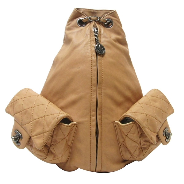 CHANEL 香奈兒 奶茶色羊皮後背包 Backpack Is Back Bag【二手名牌 BRAND OFF】