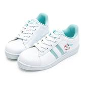 DISNEY 逃跑計畫 叉奇條紋貝殼小白鞋-白藍(DW6112+DB6119)贈同款束口袋