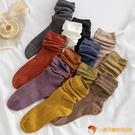 堆堆襪子女中筒襪純棉秋冬日系長筒襪【小獅子】