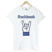 Rockbook短袖T恤-白色 搖滾書趣味幽默玩翻潮t-shirt 390 Gildan