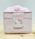 【震撼精品百貨】Hello Kitty 凱蒂貓~日本三麗鷗 kitty 絨毛化妝盒/珠寶盒-緞帶#03382