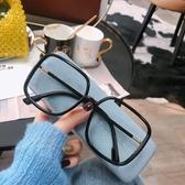 防輻射眼鏡女抗藍光大框圓臉平光素顏黑框網紅款配護眼睛疲勞 非凡小鋪