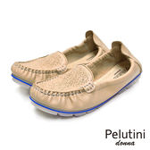 【Pelutini】donna果凍膠底休閒女鞋 裸色(8332W-BE)