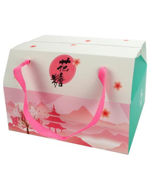 ❤[花糖]❤手提雙扣盒、蛋捲、野餐、伴手禮、手工餅乾、糖果、玩具、各式禮品 (50入/組)