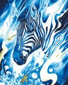 【DT123】幻影斑馬_DIY 數字 油畫 彩繪