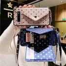 日韓三星S21保護殼 星星卡包Galaxy S21+保護套 時尚斜挎三星S21 Ultra手機殼 SamSung S21簡約手機套