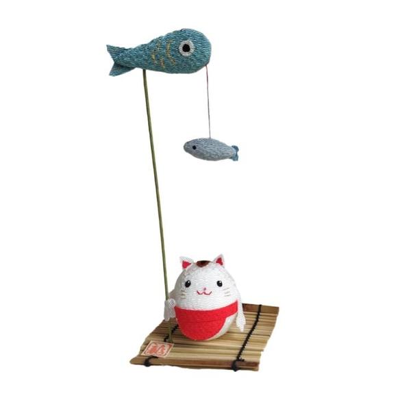 日式擺件 日式小擺件汽車載裝飾品日式桌面可愛貓咪兔子京都龍虎作生日禮物 WW