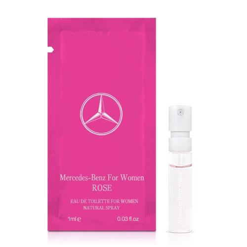 Mercedes Benz 賓士玫瑰情懷女性淡香水針管(1ml)【ZZshopping購物網】
