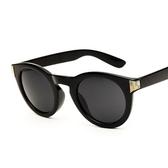 太陽眼鏡-偏光中性復古燙金時尚抗UV女墨鏡3色71g65【巴黎精品】