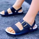 洞洞鞋 兒童拖鞋夏季男童拖鞋家用室內浴室軟底防滑沙灘鞋大童洞洞涼拖鞋 叮噹百貨