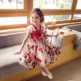 女童漢服洋裝夏裝新款女寶寶中國風刺繡蝴蝶網紗裙小女孩公主裙 幸福第一站