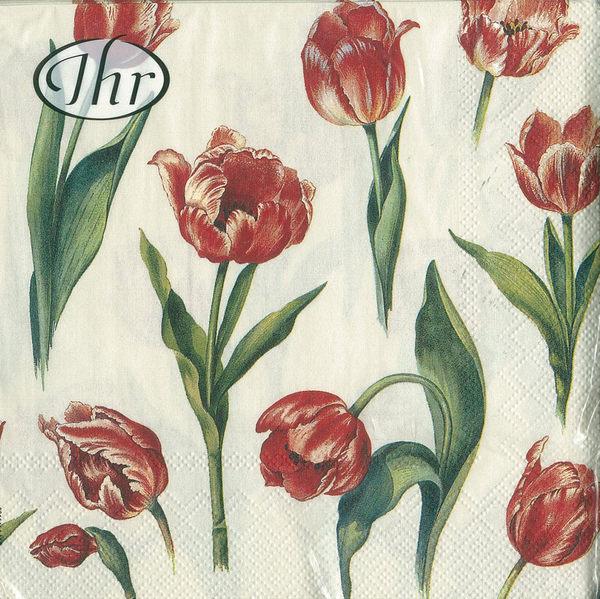 新貨到!紅鬱金香-德國 IHR 餐巾紙(33x33cm)