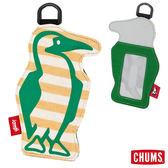 CHUMS 日本 Booby 造型悠遊卡夾 芥末黃條紋 CH602012Y018