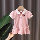 女童洋裝 女童2020新款學院風POLO裙女寶寶洋氣韓版小童連身裙嬰兒韓版裙子