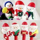 聖誕 陶泥原子筆  老公公 雪人任選  單支售 想購了超級小物