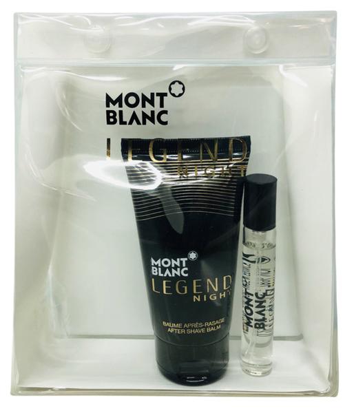 Mont Blanc Legend Night 萬寶龍 傳奇紳夜 旅行組 (淡香水7.5ML+鬍後乳50ML)【七三七香水精品坊】