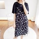 小雛菊時尚拼接網紗洋裝連身裙假兩件【88-16-8010344-20】ibella 艾貝拉