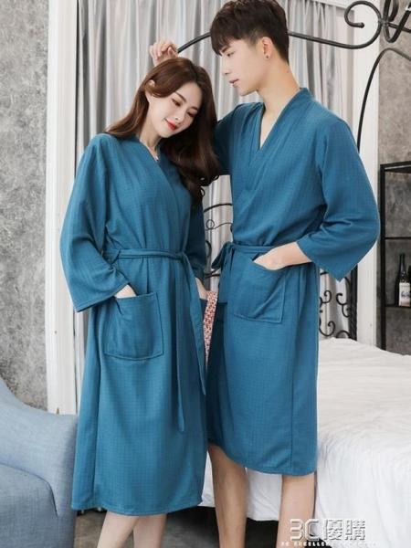 男士睡袍春夏胖子睡衣男一體式寬鬆和服浴衣浴袍加肥加大碼居家服 3C優購