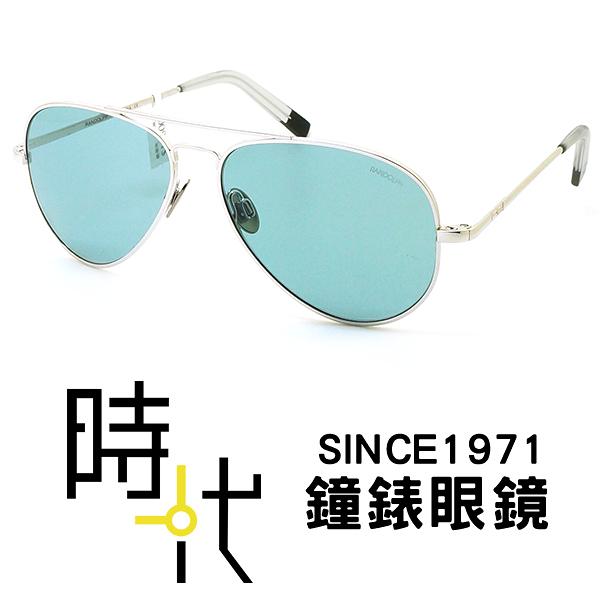【台南 時代眼鏡 RANDOLPH】墨鏡太陽眼鏡 CR231 55mm 白金限定框 藍濾光鏡片 美國製 軍規認證 飛官款