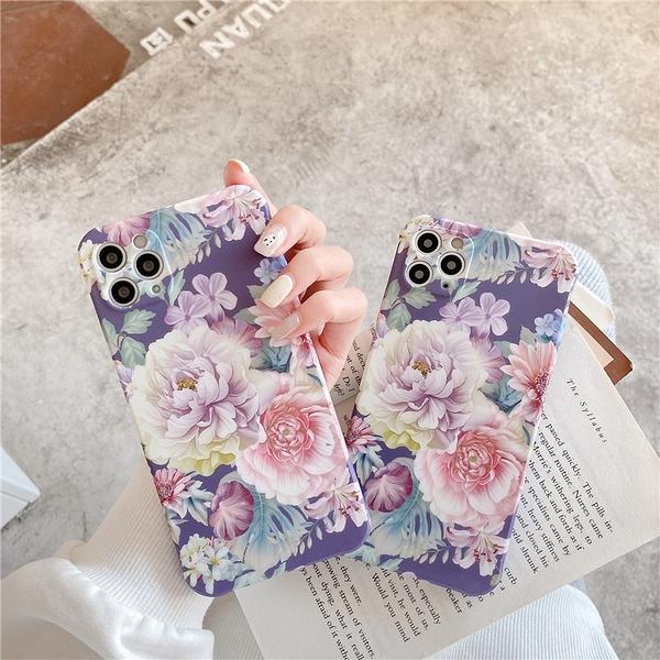 紫色牡丹花 適用 iPhone12Pro 11 Max Mini Xr X Xs 7 8 plus 蘋果手機殼