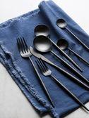黑色啞光304不銹鋼牛排刀叉簡約全套家用西餐刀西餐套裝 概念3C旗艦店