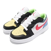 Nike 休閒鞋 Air Jordan 1 Low ALT PS 白 彩色 中鞋 童 Funky Patterns 喬丹 AJ1 【ACS】 DH5929-006