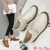 英倫風女鞋 英倫風女鞋復古小皮鞋女2021春季新款平底百搭韓版日系單鞋 小天使