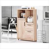 【新北大】✪ G414-1 高爾2.7尺橡木紋收納櫃 -18購
