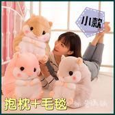 ❖i go shop❖ (小)二合一抱枕毯 倉鼠抱枕毯 可愛造型抱枕 抱枕 毛毯 兩用【I06G268】