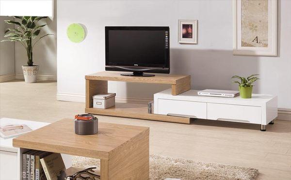【TORO】保羅北歐雙色6尺伸縮電視櫃 伸縮140~220 HY-B344-01